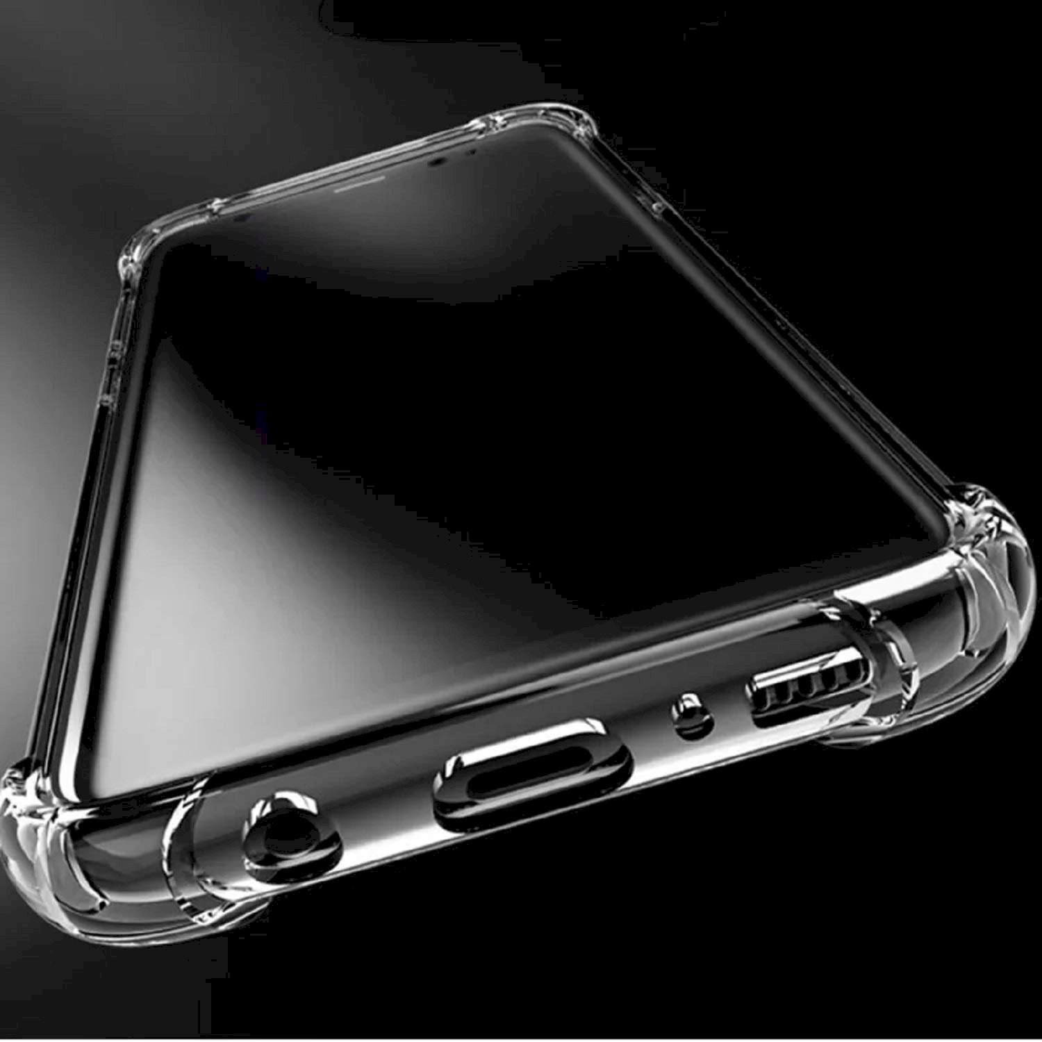 Herry Bumper Corner Silicon Shockproof Flexible Back Case Cover for Samsung Galaxy A10e (Transparent)