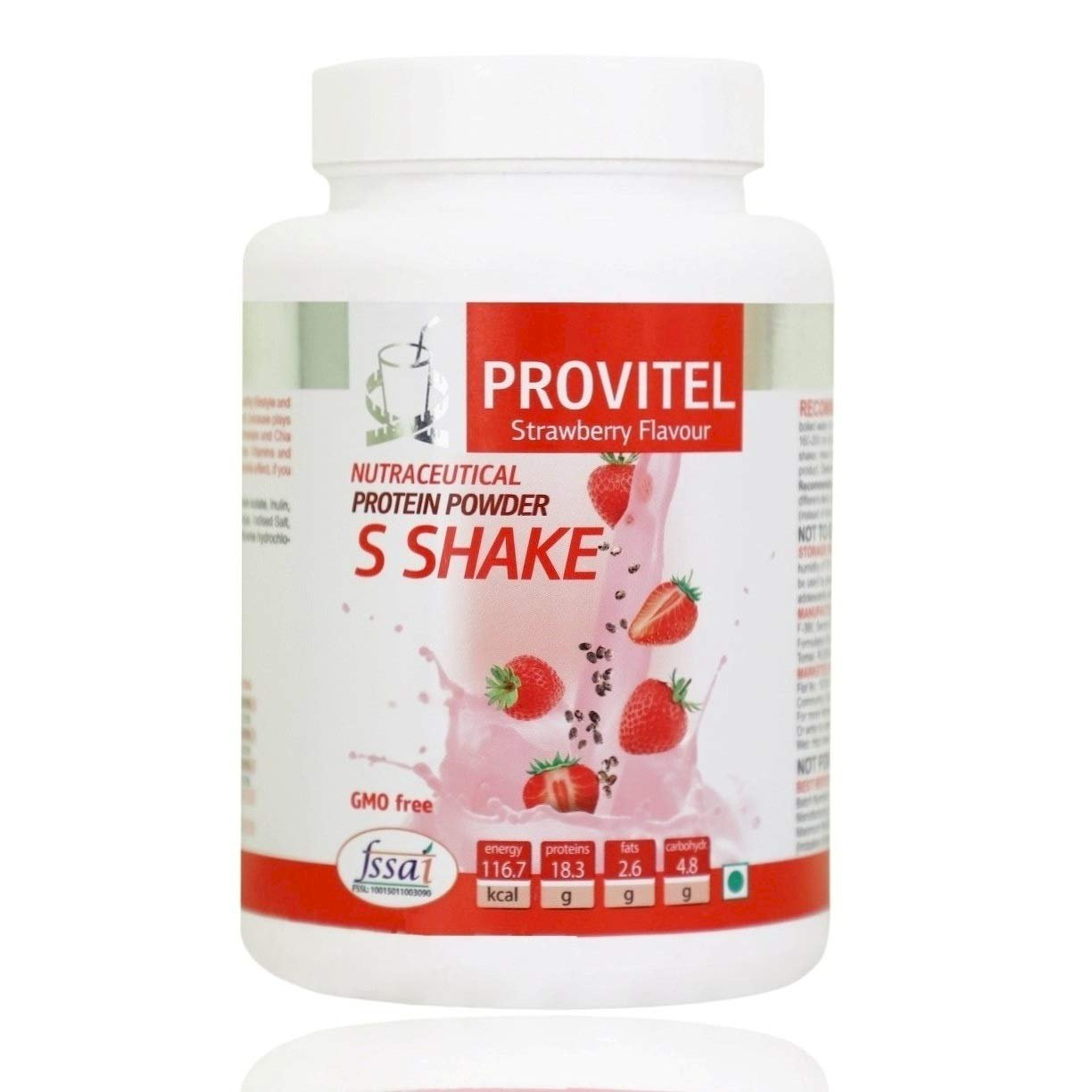 ArtLife  Protein Powder (S Shake) - (Helps in Burning Excess Body Fat, Control Appetite, Loose Weight) (500 Grams) -  Strawberry Flavour.