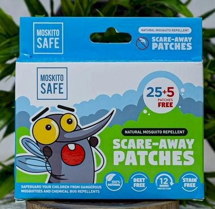 Scare Away Natural Mosquito Repellent Patches  ( 25+5)
