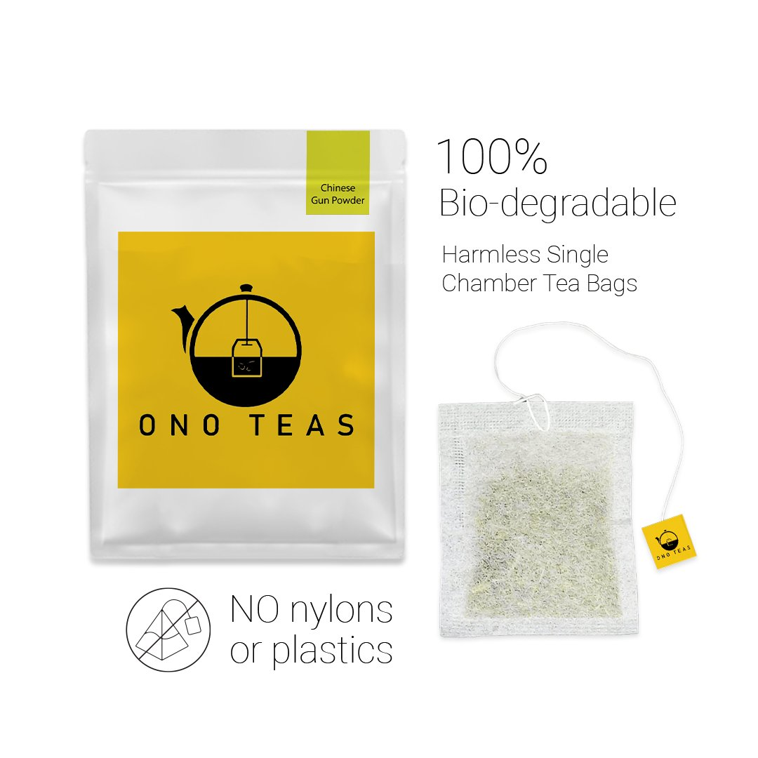 Ono Teas Chinese Gun Powder (30 Days Pack   30 TeaBags) with Green Tea Leaves I May help with Weight Management