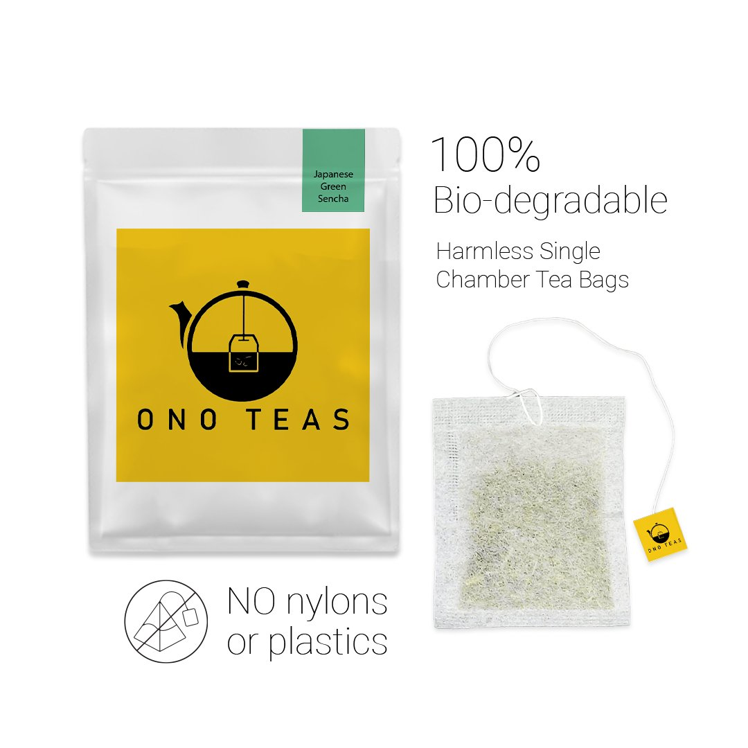 Ono Teas Japanese Green Sencha (30 Days Pack   30 TeaBags) with Darjeeling Green Tea Leaves processed in a Japanese Tradition I May help with Weight Management.