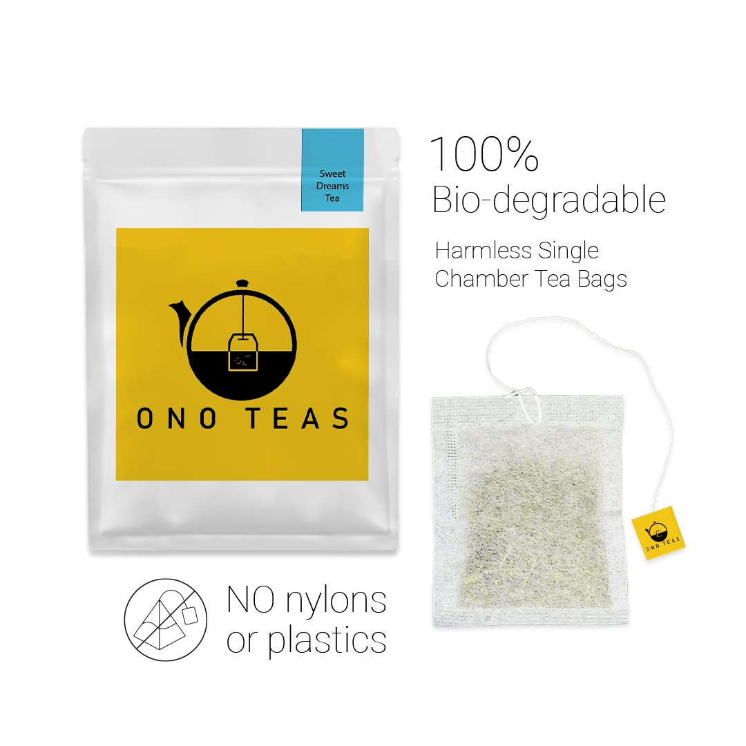 Ono Teas Sweet Dreams (30 Days Pack | 30 TeaBags) with Chamomile Flowers and Flower Petals, Lemongrass, Chrysanthemum Flowers, Lavender Flowers & Marigold Flowers I May help with Insomnia, Immunity, Skin Health & Oral Health.