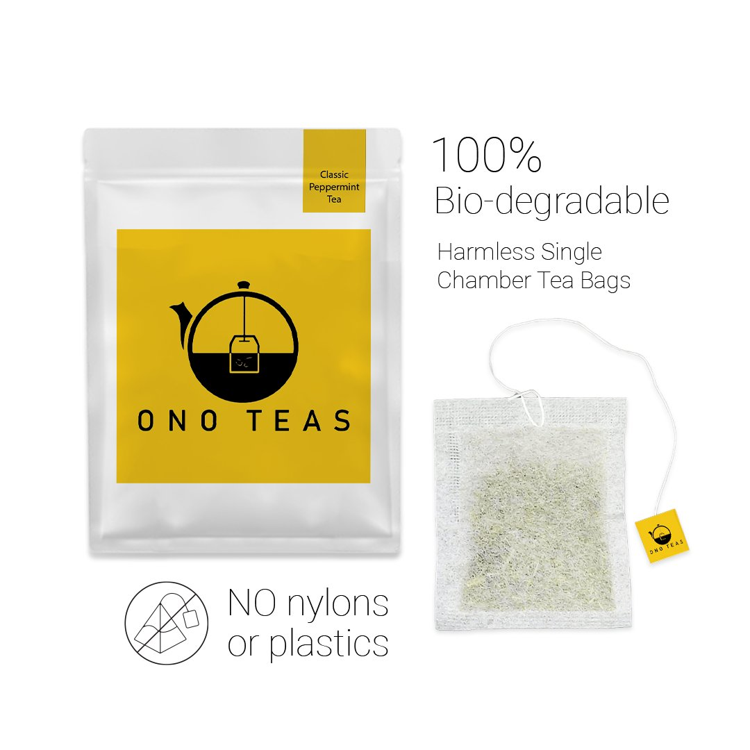 Ono Teas Classic Peppermint Tea (30 Days Pack   30 TeaBags) with Peppermint Leaves I May help with Indigestion, Headaches, Oral Health