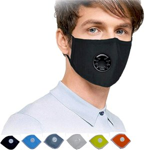 Hindustan Mart Unisex Assorted Multi Colors Anti Pollution Dust Reusable Mask for Weekly Use/Family Use (Pack of 6)