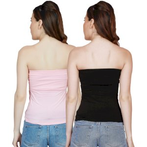 Letizia Women Cotton Non Padded Tube Top Combo