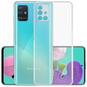 Latest Samsung A51 Back Case,Ultra Thin 0.3mm Clear Transparent Flexible Soft TPU Slim Back Case Cover for Samsung Galaxy A51 Color - Transparent Full Cover Protection Design by Case Creation