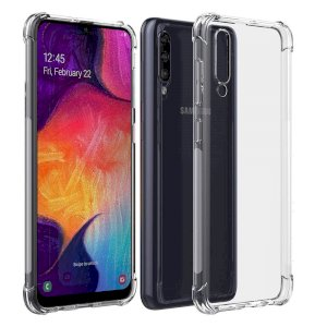 Back Cover Bump Side Air Cushion for Samsung Galaxy A30S Dual Layer Transparent Ultra Clear Finish - Transparent