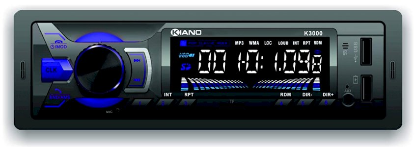 K3000 Single Din Car Mp3 Stereo Player with Dedicated Mobile app/Bluetooth/FM/ 2 USB Ports/SD Card/Aux