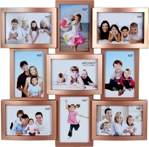 Plastic Photo Frame (Brown_45 X 45 X 2.54 Cm)
