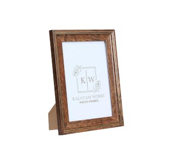 Works Synthetic Wood Photo Frame I Size: 5 X 7 Inches (KW125-1/1) Brown