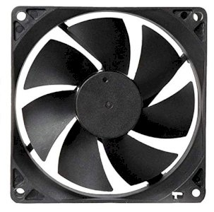 Electronic spices DC 12V Cooling Fan for PC Case, CPU Cooler Radiator (Black)