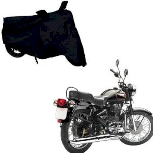 Al.Mo Two wheeler Bullet Body cover For Bullet body cover Quality Black ( free size )