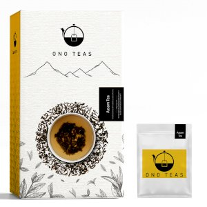 Ono Teas Assam Black Tea (100 Teabags| 100% Natural) with Assam Black Tea Leaves | May help with Digestion, Mental Health, Strengthen Joints.
