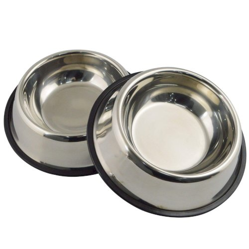 Pawfection Stainless Steel Bowl for Feeding Small Dogs Cats and Kittens Only (900ml X 2)