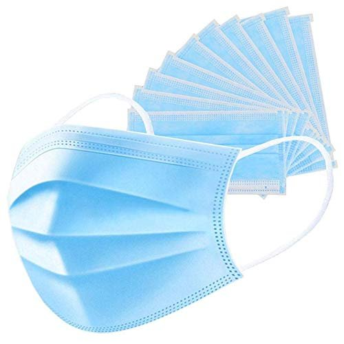 Hindustan Mart Ear-Loop -3Ply Disposable Mouth Dust Pollution Mask, (Pack of 50 )