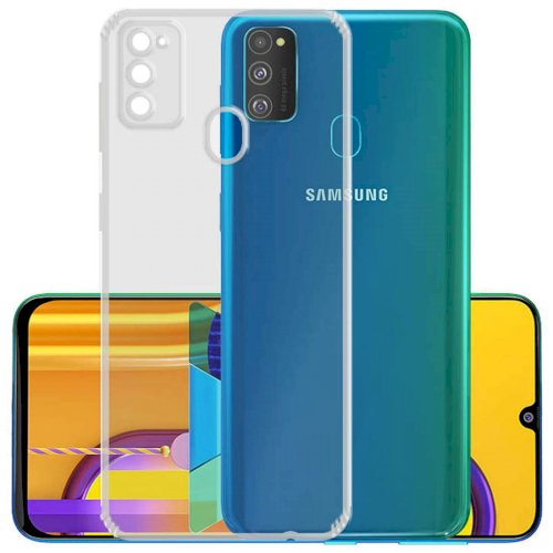 Silicon Flexible Transparent TPU Back Case Cover for Samsung Galaxy M21 / M30s (Transparent)