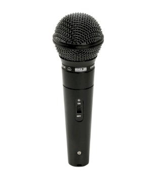 Professional Dynamic Cardioid Vocal Wired Microphone with XLR Cable (Black)