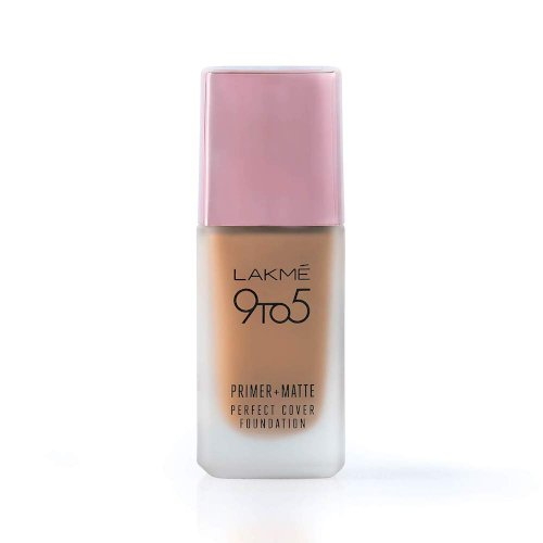 Lakme 9To5 Primer + Matte Perfect Cover Foundation, C280 Cool Tan, 25 ml