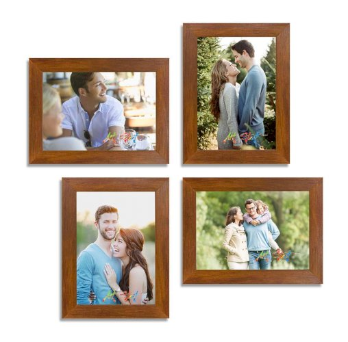 Synthetic Wood Wall Photo Frame (Brown_5X7 Inch)