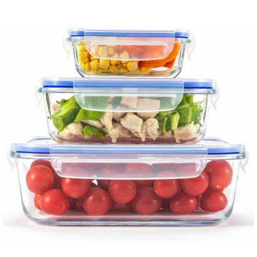 Borosilicate glass containers with air tight lid PYGCASJ