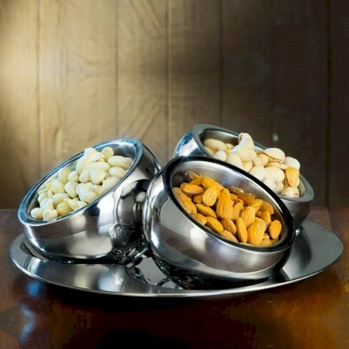 Stainless steel double wall dry fruits set PYGCASJ