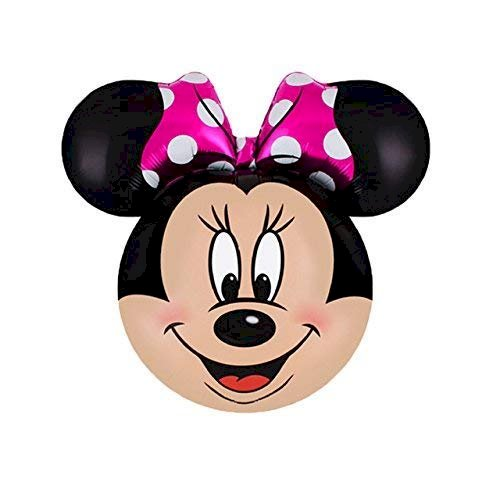 Best Deals Rock The Party Minnie Head foil Balloon 12 inches (1 pc)