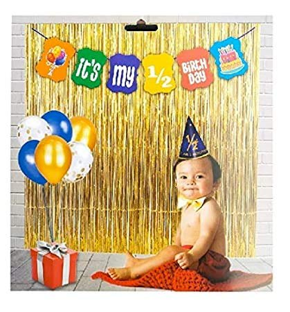Best Deals Its My Half Birthday Banner for Birthday Celebration and Decor