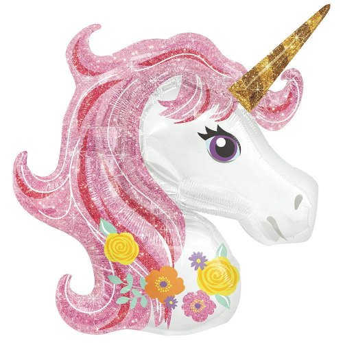 Best Deals Rainbow Unicorn Party Balloon Fills with Air / Helium = 1 Piece