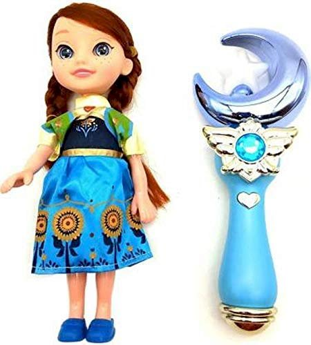 Best Deals Pretend Play Snow Princess Doll Toy with Musical Magical Wand Toy for Kids