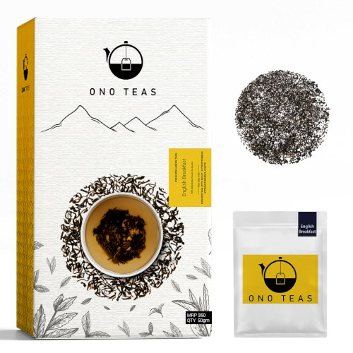 Ono Teas English Breakfast (100 Teabags |100% Natural) with Assam Tea Leaves & CTC Tea I May help with Indigestion, Eye Sight, Hypertension & Strengthening Joints.